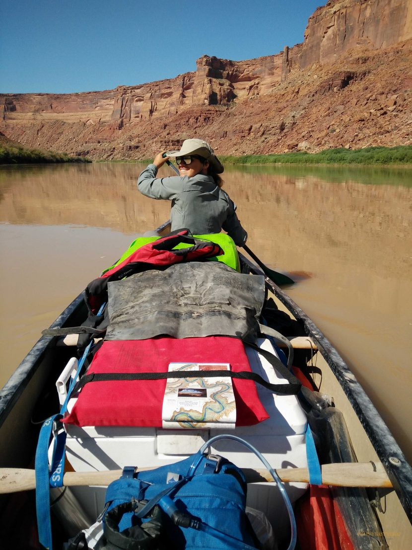 Our canoe in Green River