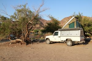 Dehoop campsite with our Landcruiser
